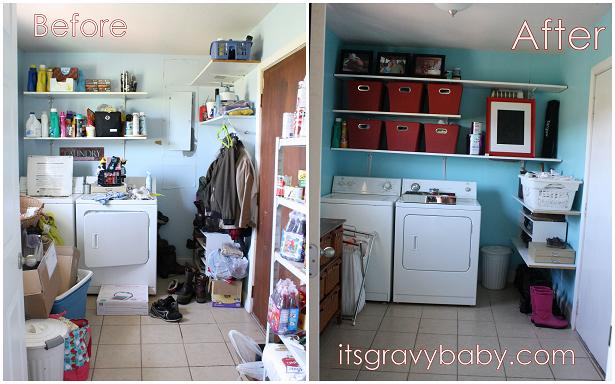 The Laundry Room Makeover REVEAL GliddenGallons