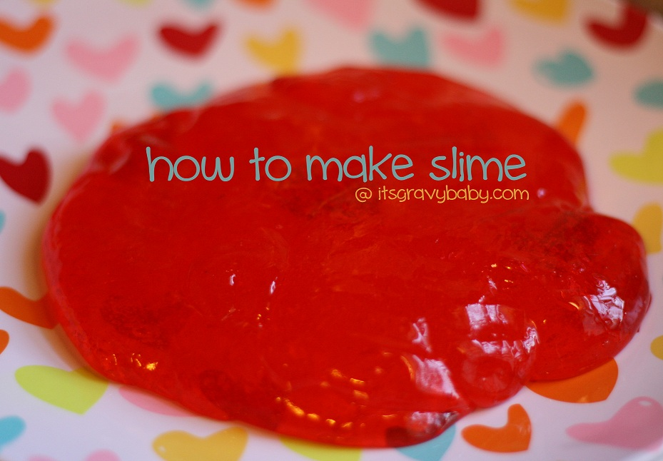 homemade slime, how to make slime, slime recipe