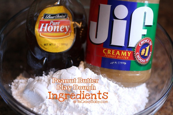 Peanut Butter Play Dough Ingredients