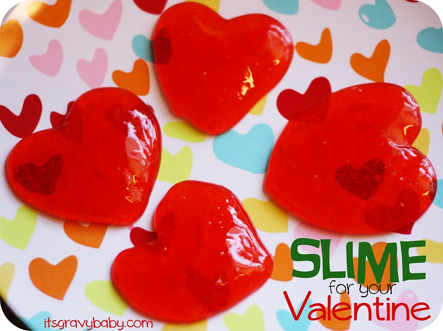 homemade slime, valentine slime, red slime, how to make slime, slime recipe
