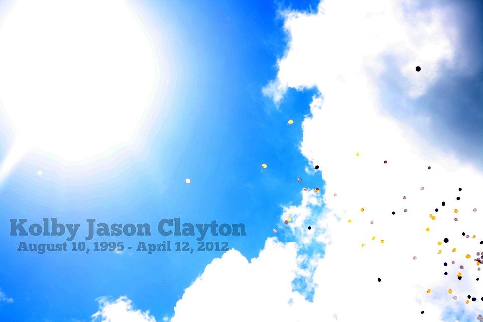Balloons for Kolby Jason Clayton