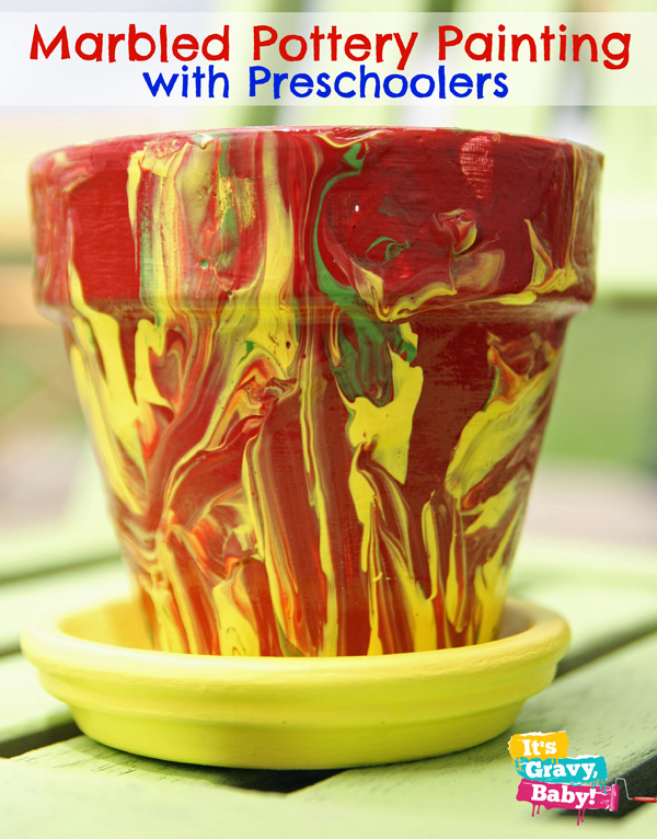 Marbled Preschool Pottery Painting