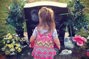 Bella at Kolby's Grave