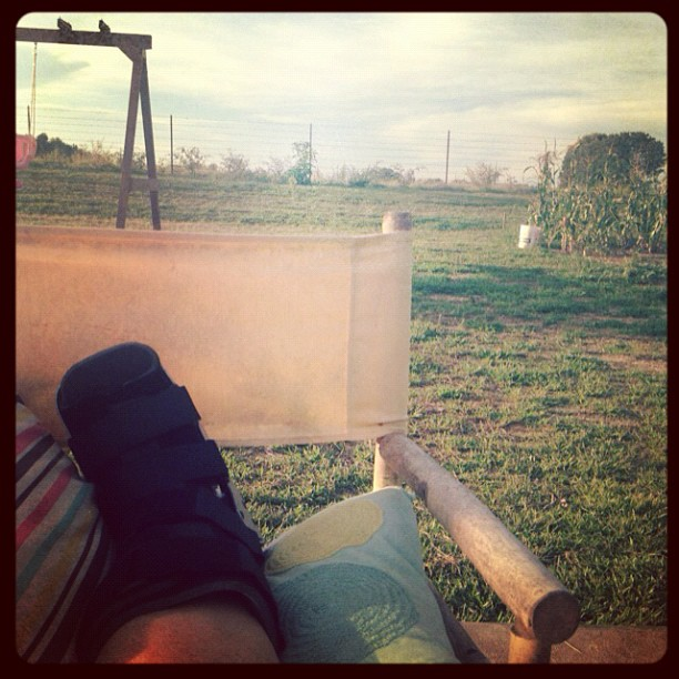 Broken Leg Outside