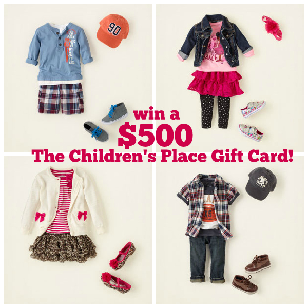The Children's Place $500 Gift Card Giveaway