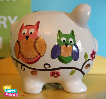 Child to Cherish Owl Piggy Bank