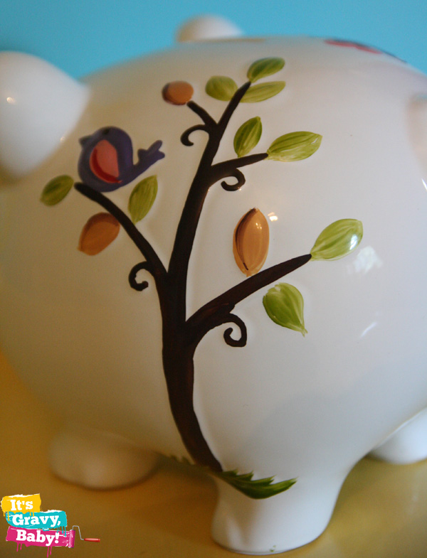 Child to Cherish Piggy Bank Tree Bird