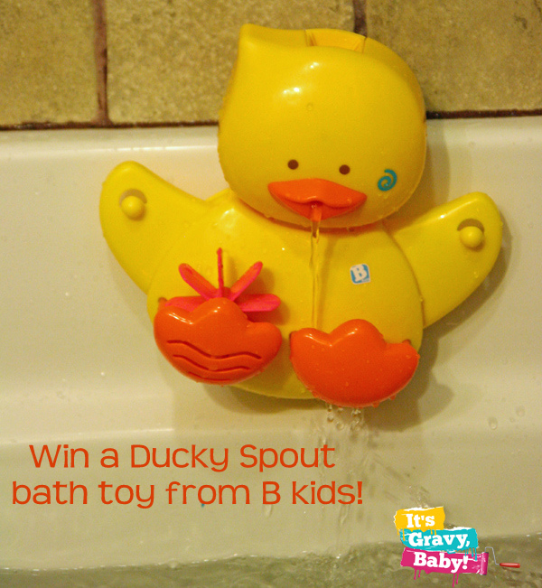 ducky spout, dedee duck, bath toy, b kids