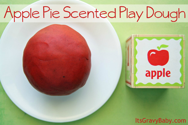 Apple Pie Scented Play Dough Preschool Craft