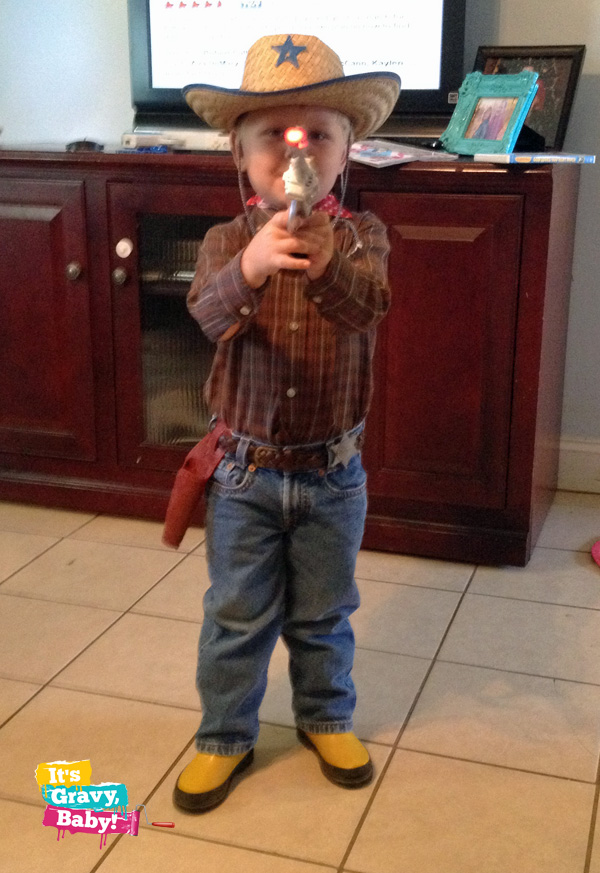 Cowboy Bryson with Toy Gun