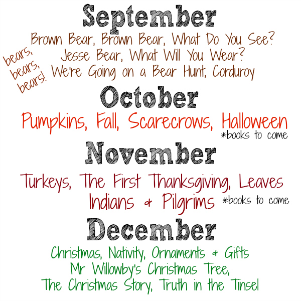 Preschool at Home Monthly Themes