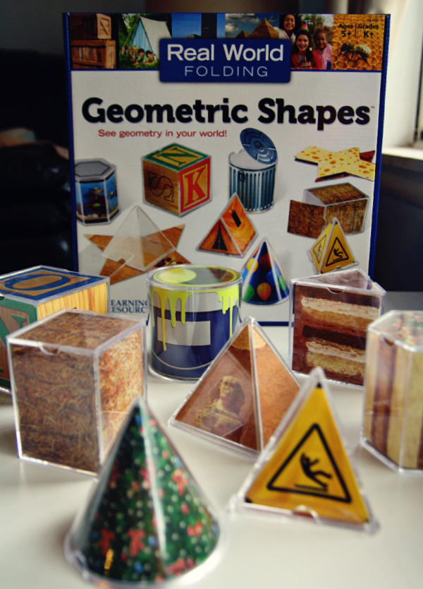 Real World 3D Geometric Folding Shapes from Learning Resources