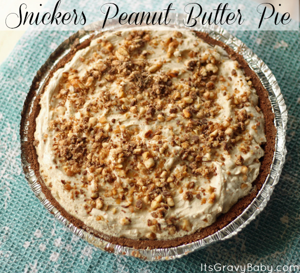 Snickers Peanut Butter Pie Recipe