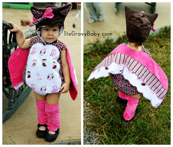 Adorable Owl Costume, Halloween 2012