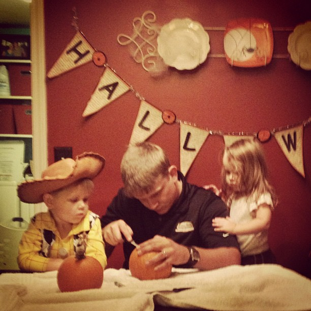 Carving Pumpkins 2012