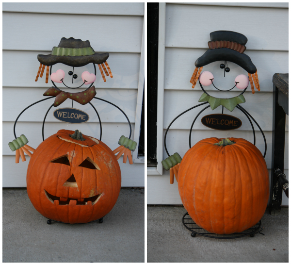 Halloween Pumpkin Scarecrow Holders Kmart
