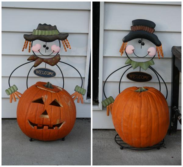 Halloween Pumpkin Scarecrow Holders Kmart