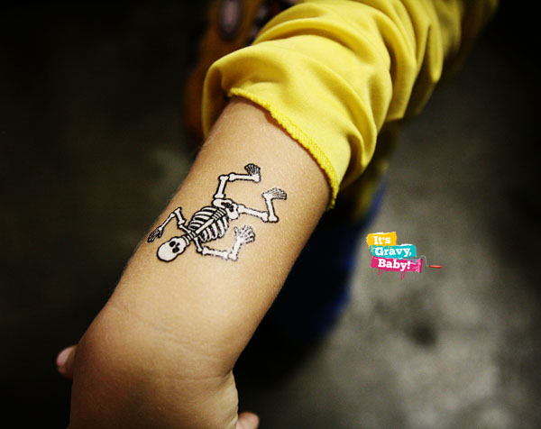 Tennessee Valley Railroad Museum Halloween Fun House Temporary Tattoos