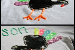 turkey handprint shirt craft thanksgiving
