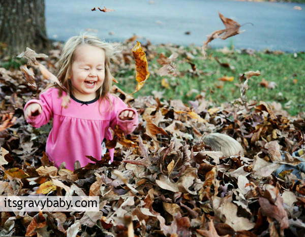 Playing in Leaves, Childhood