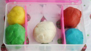 Christmas & Snow Play Dough Box