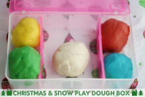 Christmas & Snow Play Dough Box