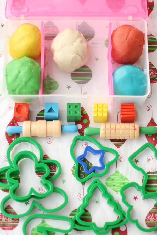 Christmas and Snow Play Dough Box