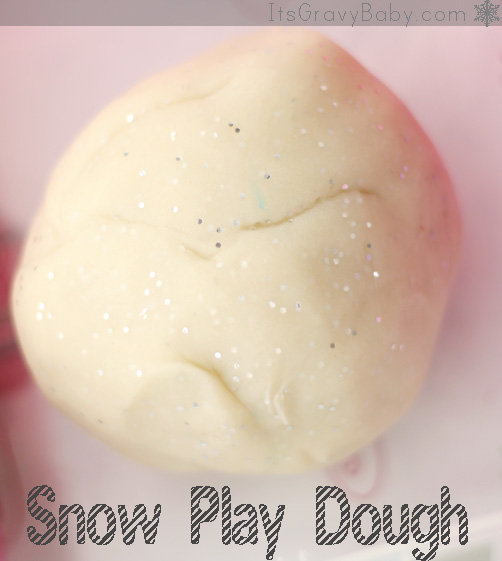 Snow Play Dough Recipe