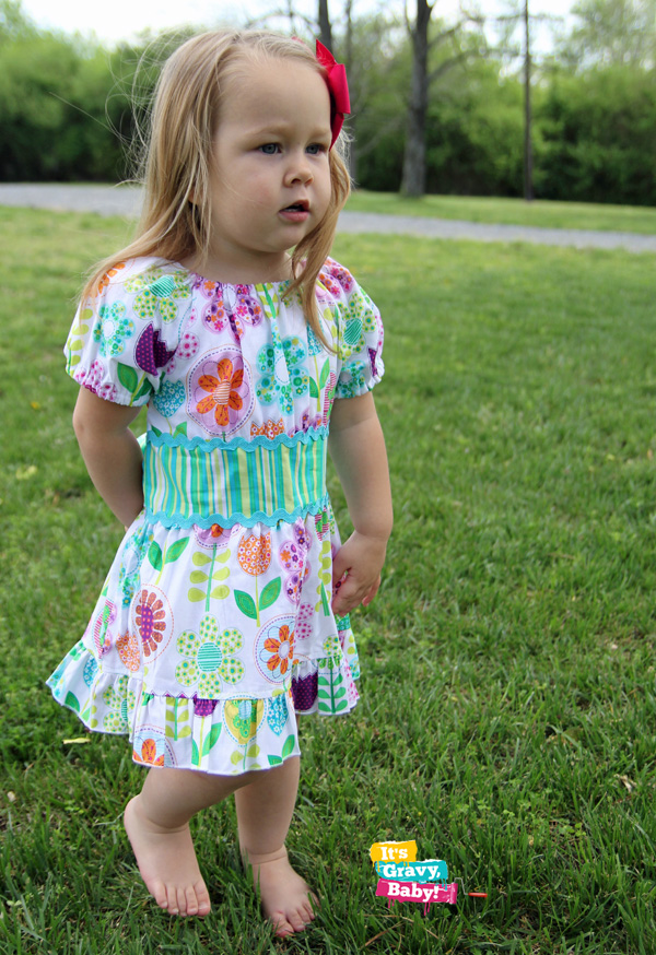 Lolly-Wolly-DoodleBright-Floral-Sash-Peasant-Sleeve-Dress