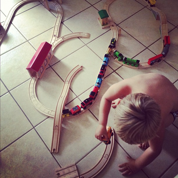 Wooden train tracks