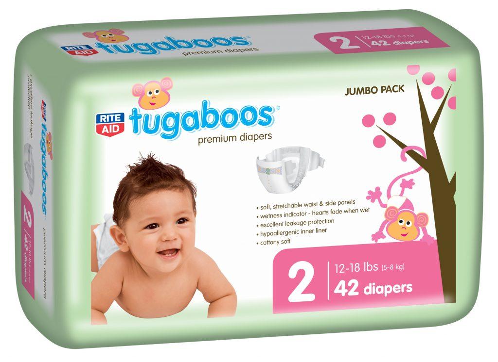 Rite Aid tugaboo diaper size 2 42 ct