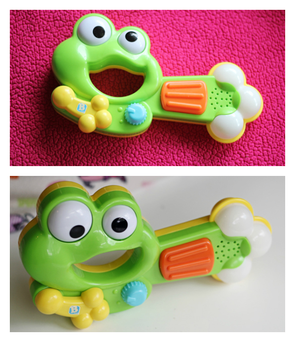 B kids Musical Toys Funky Frog Guitar