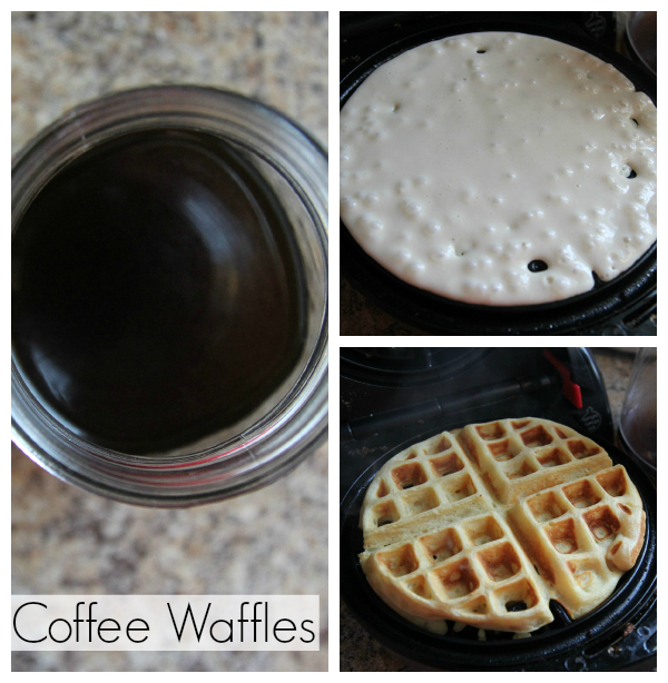 Coffee Waffles Cooking