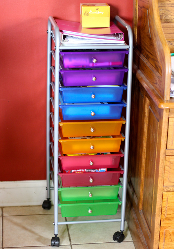 110 Drawer Rolling Cart for Homeschool Organization