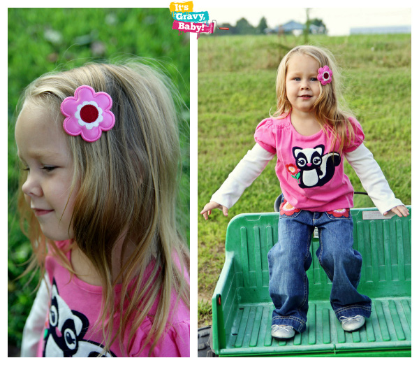 Gymboree Girls Outfit Skunk Flower