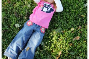 Gymboree Styles for Girls Skunk Flower