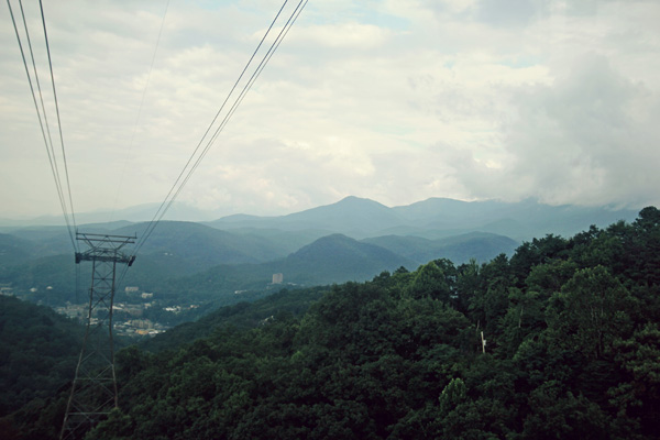 Smoky Mountains view from Ober Tram
