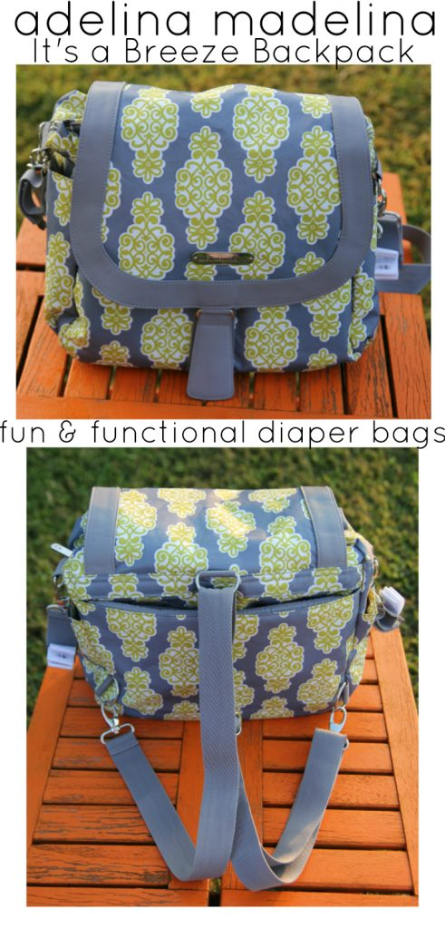 Adelina Madelina It's a Breeze Backpack Storm Cloud Lime