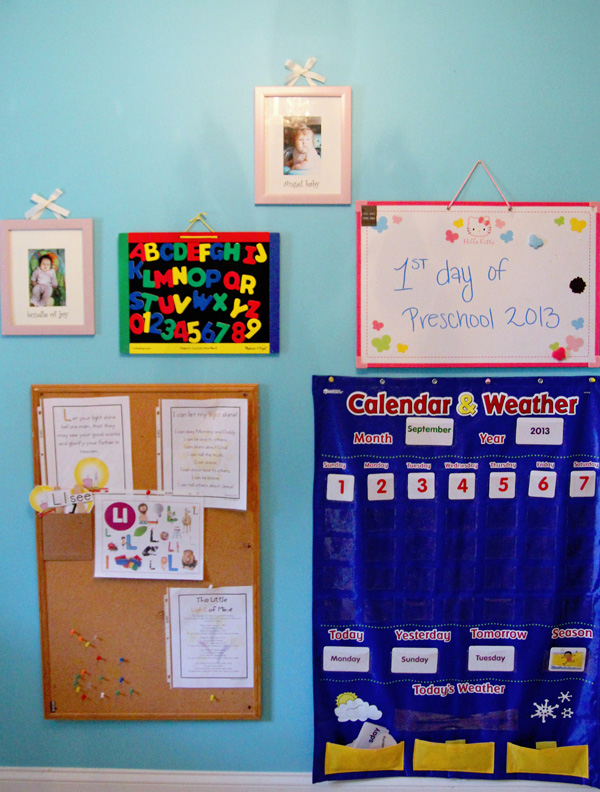 Calendar Wall School Room