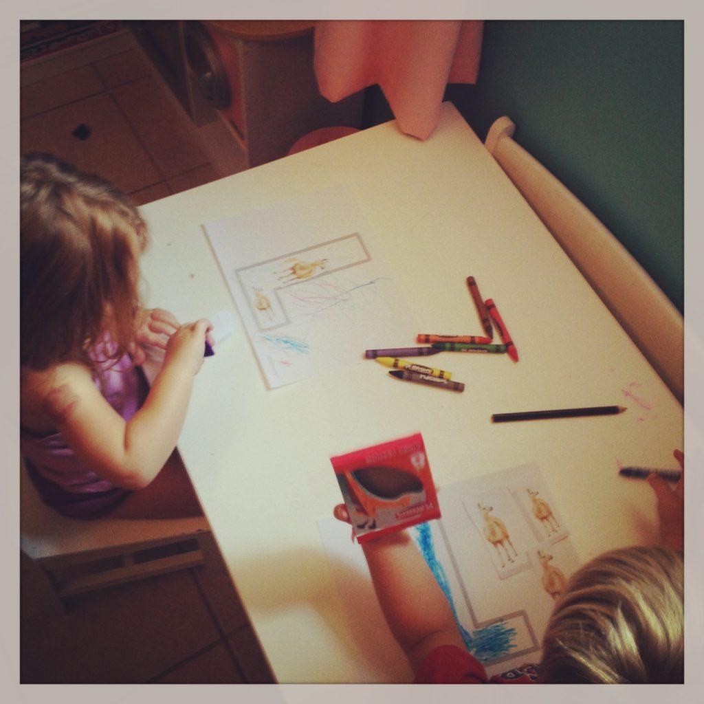 First Day of Preschool 2013 - Craft