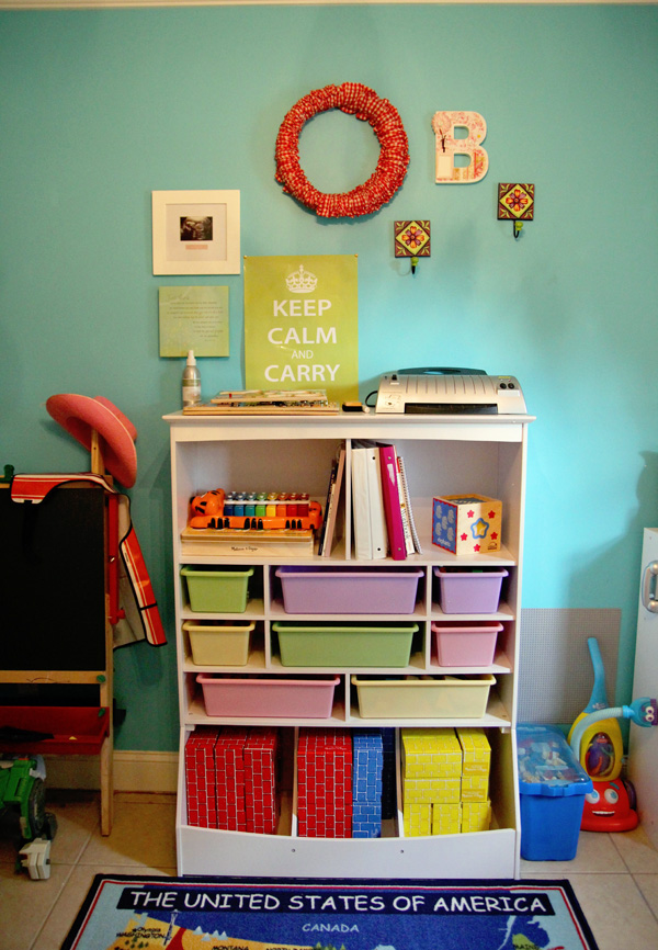 KidKraft Wall Storage Unit -Play School