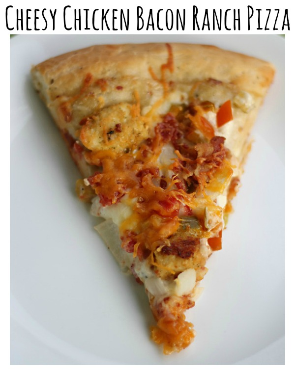 Cheesy Chicken Bacon Ranch Pizza Recipe ItsGravyBaby.com