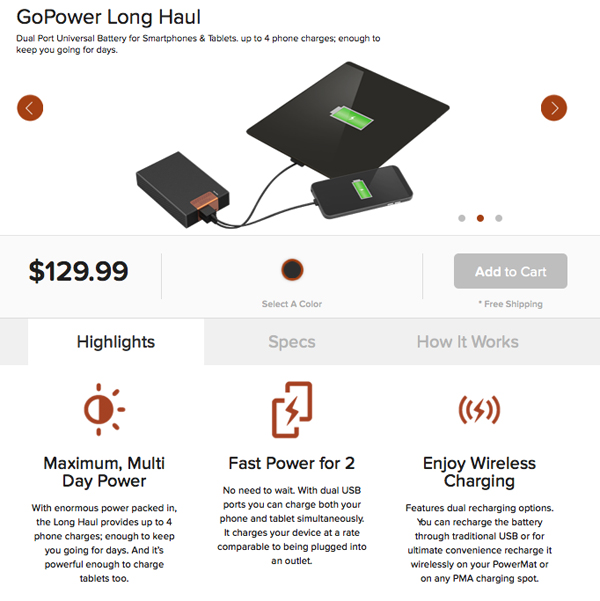 Duracell GoPower Long Haul Charger