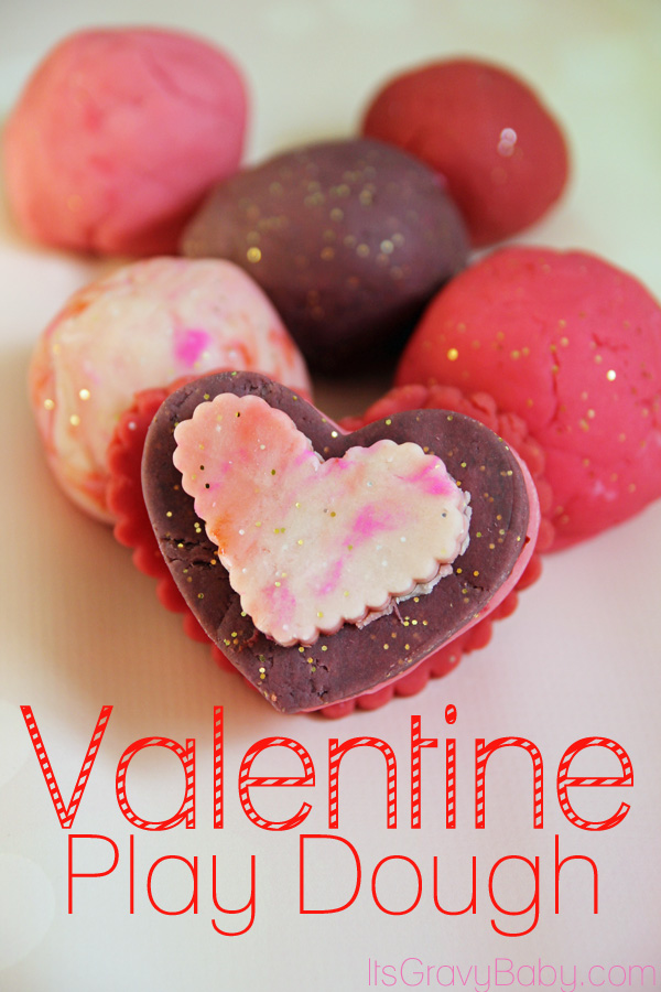 Homemade Valentine Play Dough