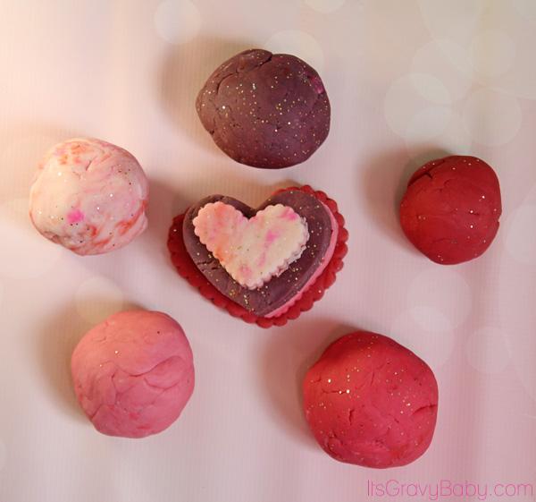 Homemade Valentine Play Dough