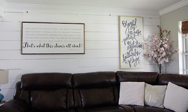 Living Room Wall Shiplap