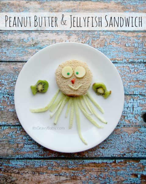 Peanut Butter & Jellyfish Sandwich Idea // Fun Kid Food