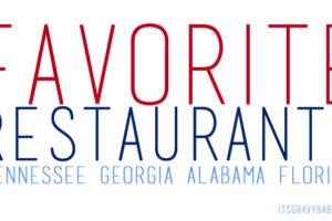favorite restaurants southeast