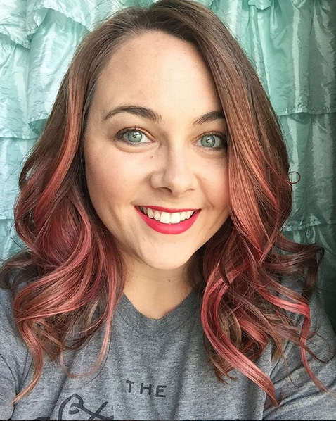 overtone vibrant pink hair